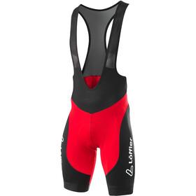 Löffler Winner II Fiets Bib Shorts Heren, rood/zwart